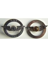 WWII CAA Pilot Hat Insignia Sterling     - $50.00