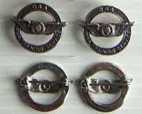 WWII Civilian Trainer CAA WTS Collar Set Sterling