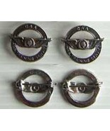 WWII Civilian Trainer CAA WTS Collar Set Sterling   - $40.00