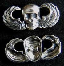 Vietnam SF MACV SOG Skull Paratrooper Wings Sterling       - $30.00