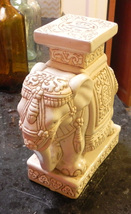 Finely Detailed Vintage Ceramic Elephant Plant Stand - $147.67 CAD