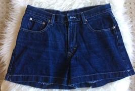 Jordache Womens Shorts 13/14  Blue Denim Jean Shorts High Waisted  - $14.89