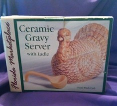 Florida Marketplace Ceramic Turkey Gravy Server with Ladle - $14.03