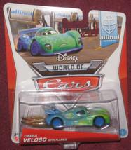 Disney Cars CARLA VELOSO with FLAMES Brazil Diecast. Brand New. - $9.99