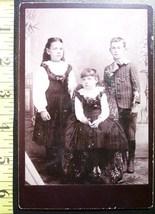 Cabinet Card Three Good Looking Siblings! c.1866-80    - $6.40