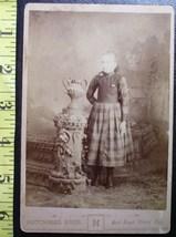 Cabinet Card Pretty Teen Girl Studio Info! c.1866-80    - $6.40
