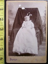 Cabinet Card Baby White Gown & Hidden Mom! c.1866-80 - $5.60
