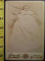 Cabinet Card Baby White Gown & Hidden Mom #2! c.1866-80 - $6.40