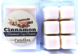 Cinnamon 3.2 Ounce Pack of Soy Wax Tarts - HANDMADE Scent Brick, Wickles... - $6.82