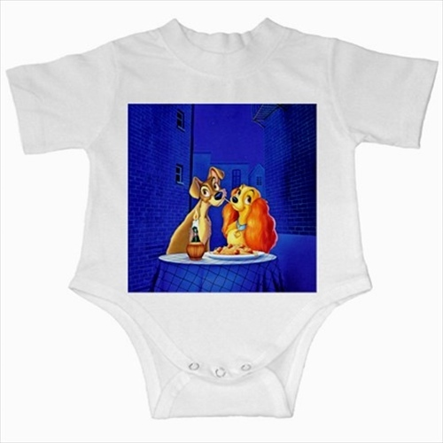 Primary image for Lady and tramp infants baby creeper bodysuit romper onepiece newborn jumpsuit