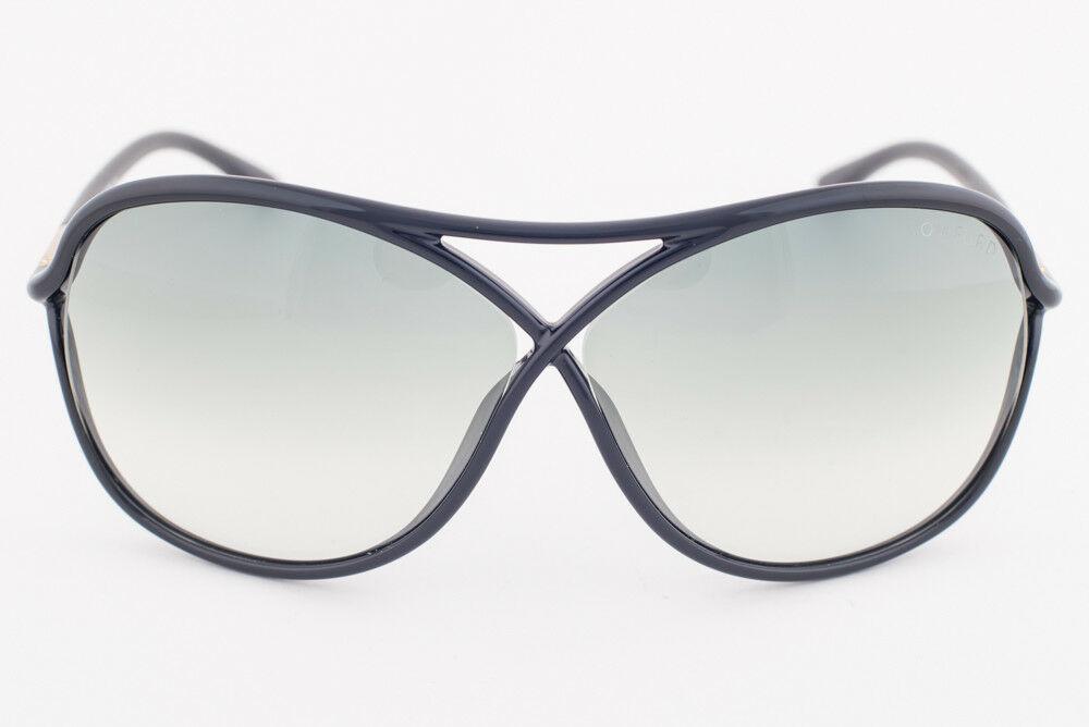 Tom Ford Vicky Black Gold / Green Gradient Sunglasses TF184 01B