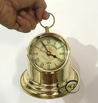 1876 Home Decor Clocks Gimballed Binnacle Compass Design Clocks TableTop Gifts - $33.40