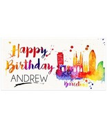 Barcelona Birthday Banner Personalized Party Backdrop - $23.64