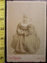 Cabinet Card Cute Blond Boy in Dress Studio Info! c.1866-80 - $6.00