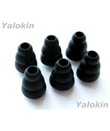 6 Small (S) Black Triple Flange Ear Tips for Jaybird Freedom and Freedom... - $10.99