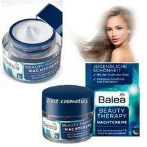 Balea Beauty Therapy Night Cream With Hyaluronic Acid & Alga Anti Aging 50 ml - $14.99
