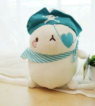 Molang Pirate Stuffed Animal Rabbit Plush Toy 8.6 inches 22cm (Blue) image 4