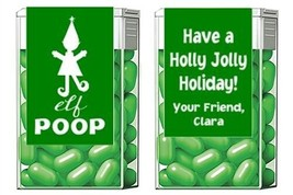 Christmas Holiday Elf Poop Mint Mints Party Favors Labels Personalized C... - £3.06 GBP+