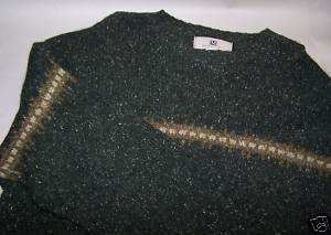 Green Med M Long Sleeve Men's Wool Maurices Sweater