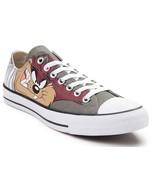 Converse x Looney Tunes Chuck Taylor Ox TAZ Tasmanian Devil Sneaker Gray... - $51.96