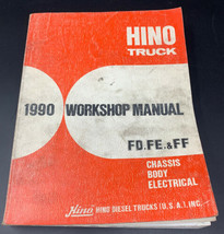 HINO Truck 1990 Workshop Repair Manual FD, FE, FF Chassis Body Electrica... - $28.45