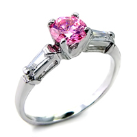 Pam pink ice solitaire