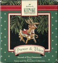 Hallmark Keepsake Ornament - Prancer & Vixen (Second of Five Set) 1992 - $5.34
