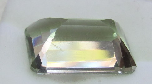 13+ctw Praisiolite 18x12 Emerald cut Gemstone
