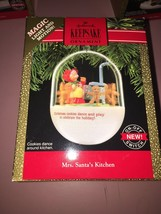 "HALLMARK KEEPSAKE LIGHT AND MOTION ORNAMENT..""...MRS SANTA'S KITCHEN.. "" - $14.81"