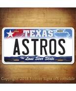Houston Astros MLB Baseball Team Texas Aluminum Vanity License Plate - $12.82