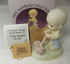 Precious Moments Mow Power To Ya 1989 Members Only Figurine PM892 Tags Box - $16.44
