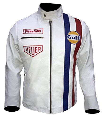 Steve Mens Gulf Le Biker Mans MC Synthetic Leather Queen Jacket