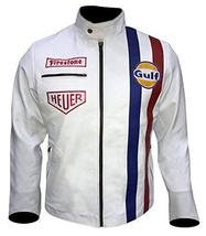Steve Mens Gulf Le Biker Mans MC Synthetic Leather Queen Jacket image 1