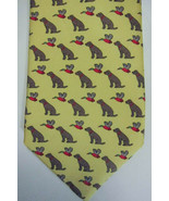 GORGEOUS $95 Peter Blair Yellow With Retriever Dog and Duck Silk Tie - $59.99