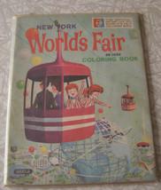 1964 New York World's Fair Deluxe Coloring Book Spertus - $15.99