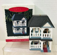 1993 Nostalgic House #10 Cozy Home Hallmark Christmas Tree Ornament MIB ... - $24.26