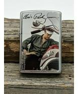 Rare Retired 2011 Elvis on Motorcycle Photo Chrome Zippo Lighter  - $56.95