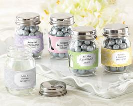 Blank Mini Glass Mason Jar Baby Birthday Wedding Favor (Personalized Opt... - $61.70+