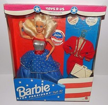 Barbie For President Doll #3722 Limited Edition Toys Are Us Red White Bl... - $29.69