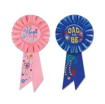 Mom and Dad to Be Rosettes for Baby Shower or Hospital - $12.86
