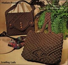 Vtg 14 Macrame Purses Handbags Disco Bag Belts Childs Pursemaker V2 Patt... - $12.99