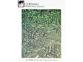 Cornish Heritage Farms Abstract Backgrounder Rubber Stamp #SL-1780WUM