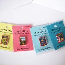 DOLLHOUSE 4 Books of Teen Girl Detective Stories Jacqueline's Miniature - $10.13