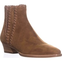 Michael Kors Collection Presley Pull On Stiched Ankle Boots, Dark Luggage - $177.99