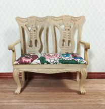1 Pcs Dollhouse Miniature Unfinished Double Seat Chair Bench 1:12 Scale ... - $34.00