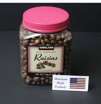Kirkland Signature Milk Chocolate Covered Raisins,3.4lbs = 54 oz - $22.40