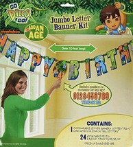 """Diego's Biggest Rescue Jumbo Add-An-Age """"Happy Birthday"""" Letter Banner - $16.26"""