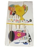 Photo Booth Photo Props! Field Day Is Fun Trophy Awards Flags Start Finish NEW!  image 1