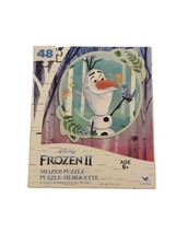 """Olaf Snowman Shaped Puzzle 48 piece Size 9.1""""x10.3"""" New (Frozen II) - $5.34"""