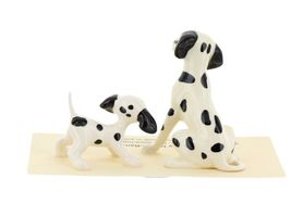 Hagen Renaker Dog Dalmatian Papa and Puppy Ceramic Figurine Set image 6